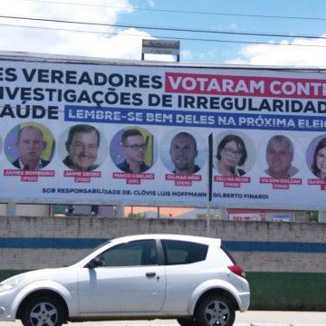 Após outdoor, sobre votação na Câmara de Vereadores, presidente da Casa se manifesta