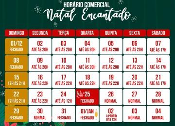 Horário especial de Natal tem início em Rio do Sul.