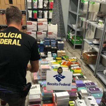 Operação da PF e Receita apreende R$ 200 mil em mercadorias em Agronômica