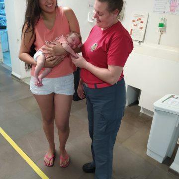 Bombeiros prestam apoio após criança de um mês se afogar com leite materno