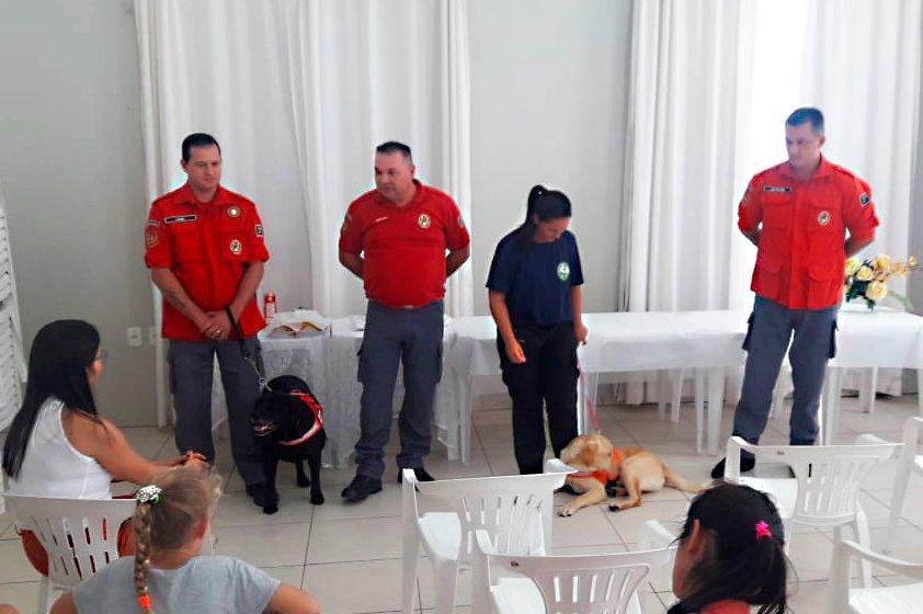 Projeto dos Bombeiros Voluntários de Presidente Getúlio permite terapia assistida por animais