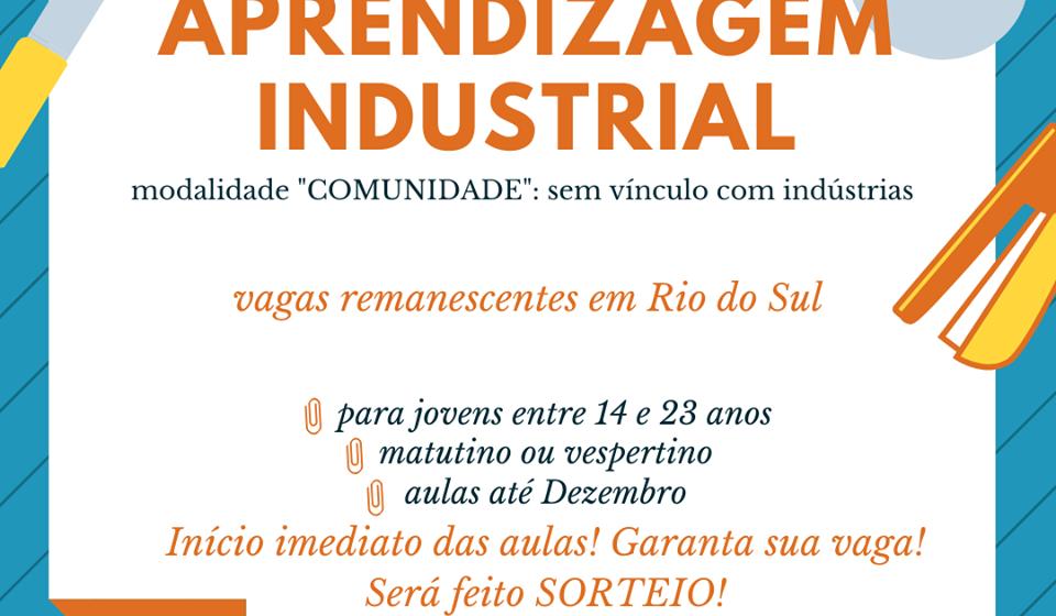 Encerram, hoje, inscrições para vagas gratuitas em cursos de Aprendizagem Industrial no SENAI