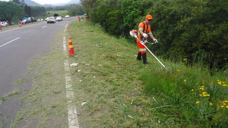 Devem ser concluídas, neste mês, as roçadas nas margens das rodovias estaduais do Alto Vale