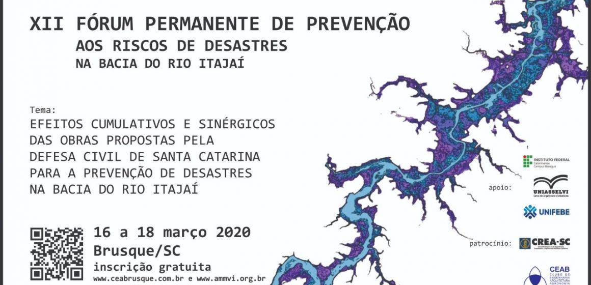 Fórum discute prevenção dos riscos em desastres