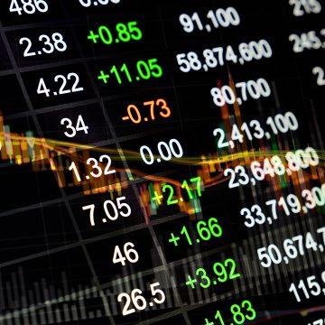 Bolsa de Valores oscilando e mercado financeiro em pânico