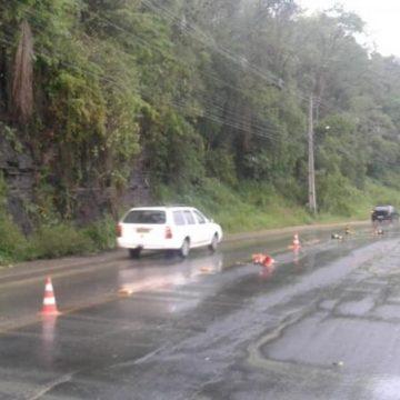 Obras na Estrada Blumenau, em Rio do Sul, exigem atenção dos usuários