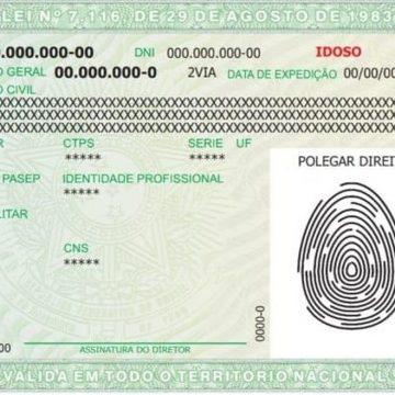 Governo federal prorrogou o prazo para que órgãos de identificação adotem os novos padrões de Carteira de Identidade