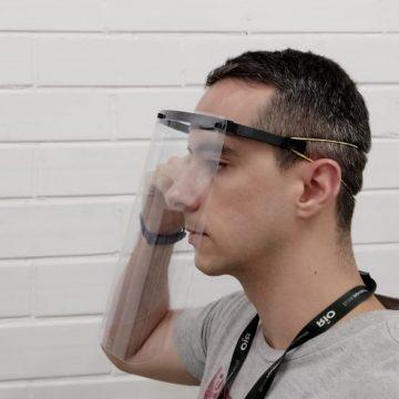 Máscaras de proteção feitas em impressoras 3D serão doadas ao Hospital Regional