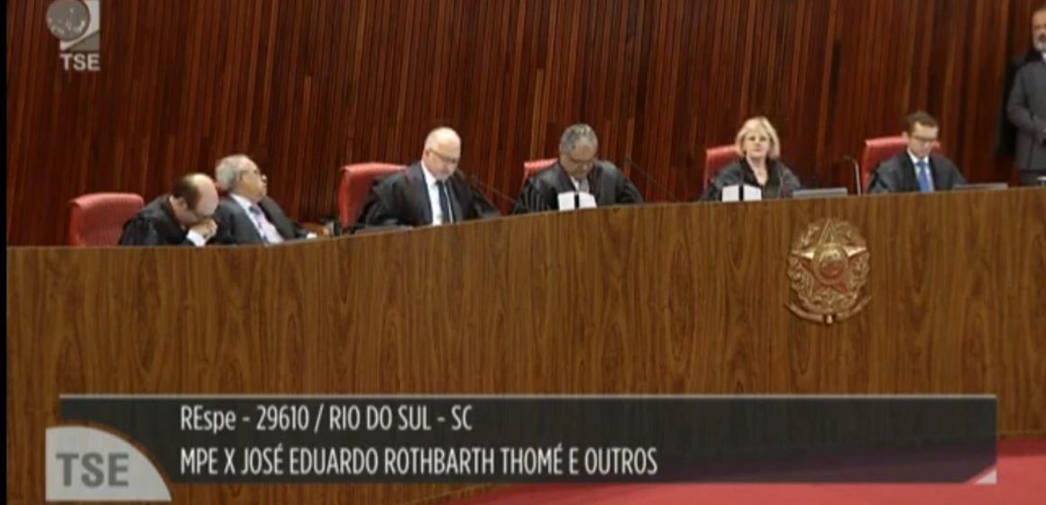 Por unanimidade, TSE valida provas em processo de suspeita de Caixa Dois em Rio do Sul