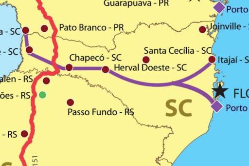 Estudos de viabilidade do Corredor Ferroviário de Santa Catarina são concluídos e entregues