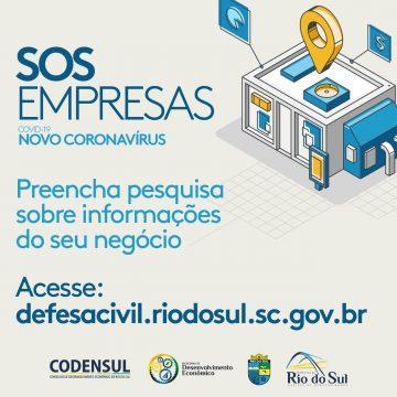 Empresas, autônomos e produtores rurais da região têm até 08 de abril para preencher o cadastro SOS EMPRESAS