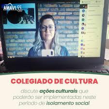 Colegiado regional de cultura da Amavi discute ações que podem ser implementadas na região no período de isolamento social
