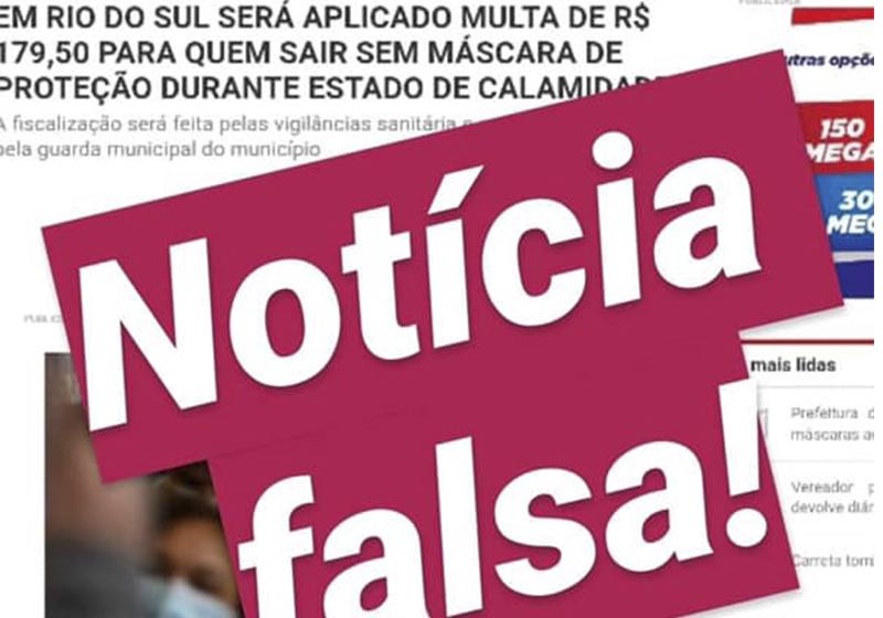 """Desmentindo """"Fake News"""", prefeitura esclarece que não multará pessoas que transitarem sem máscaras nas ruas"""