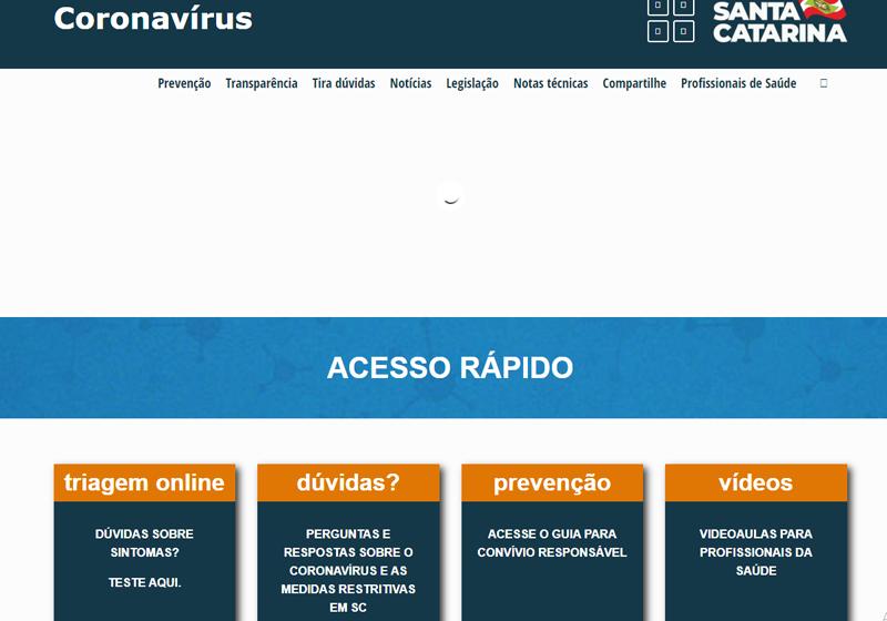 Novas funcionalidades são disponibilizadas no portal de coronavírus do Estado