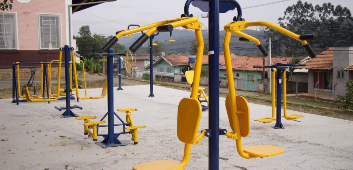 Foram instaladas sete novas academias ao ar livre, em Rio do Sul