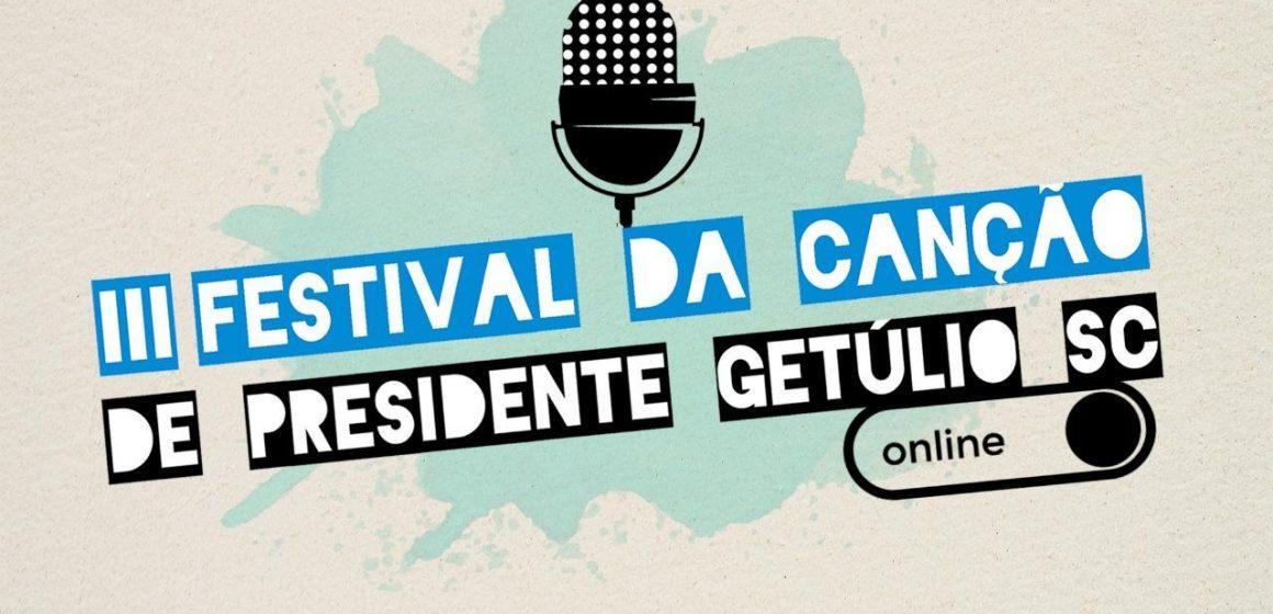 3ª edição do festival da canção, em Presidente Getúlio, será online