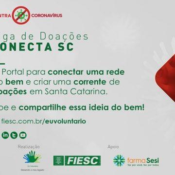 Liga de Doações Conecta SC da Fiesc arrecada alimentos para entidades durante a pandemia