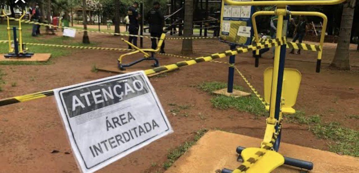 Rio-sulenses retiram faixas de isolamento para acessar academias ao ar livre