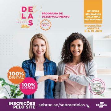 Seleção para segunda turma do programa Sebrae Delas Mulher de Negócios recebe inscrições até 19 de junho