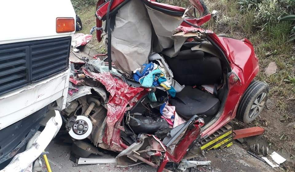 Criança de quatro anos fica gravemente ferida em acidente na BR-470