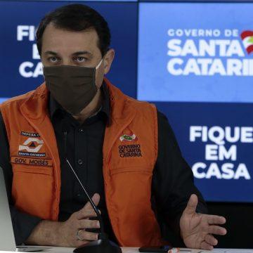 Governador de SC alerta que junho poderá ter propagação acentuada do coronavírus