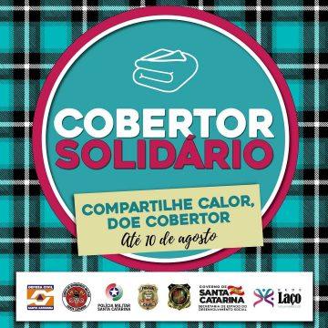 """Campanha """"cobertor solidário"""" tem início em Rio do Sul"""