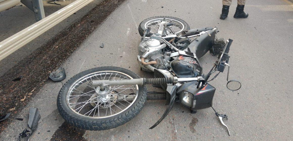 PRF de Rio do Sul atende acidente envolvendo , automóvel, motocicleta e caminhão