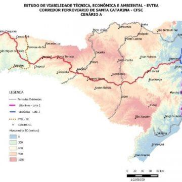 Estudo do Corredor Ferroviário indica traçado pelo Vale do Itajaí como o único com viabilidade socioeconômica