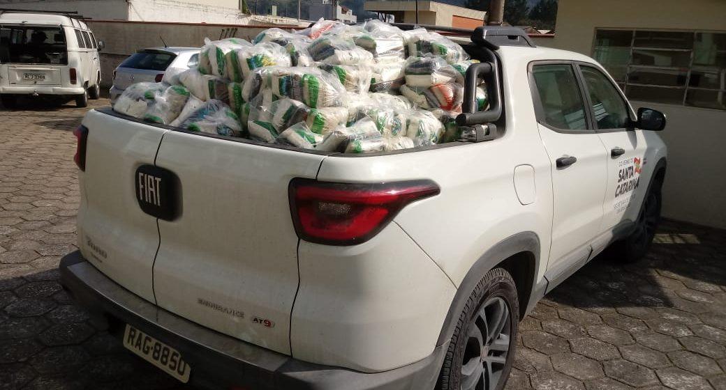 Gerência de Educação de Rio do Sul inicia mais uma entrega de kits de alimentação para estudantes da rede estadual de ensino