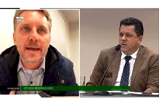 Amandio João da Silva Junior presta depoimento na CPI dos Respiradores