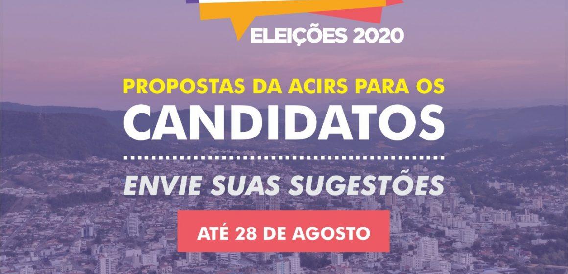 Acirs reúne sugestões de associados para discutir com candidatos ao pleito municipal