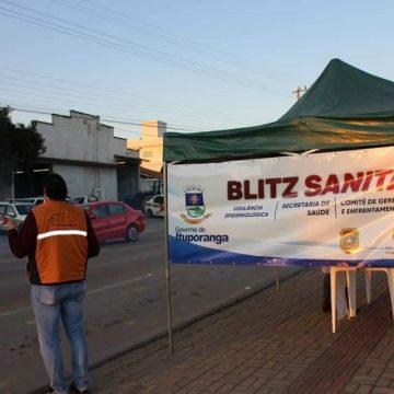 Ituporanga mantém realização de blitz sanitária para controle da disseminação do coronavírus