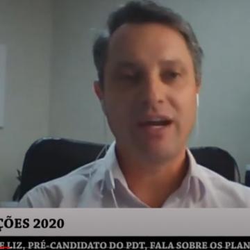Jean de Liz do PDT inicia série de entrevistas com propostas de pré-candidatos à prefeitura de Rio do Sul