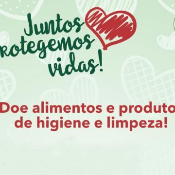 Renal Vida realiza uma campanha de doação de alimentos e produtos de higiene e limpeza