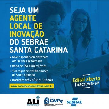 Sebrae da capital do Alto Vale tem 4 vagas abertas com bolsas mensais de R$ 4 mil
