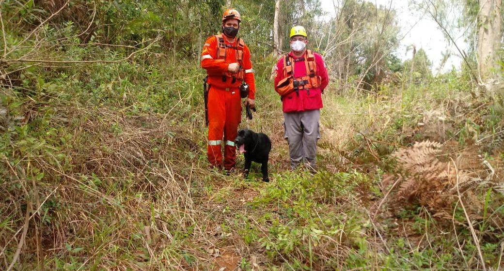 Equipes de bombeiros voluntários da região encontram mulher desaparecida em Lontras