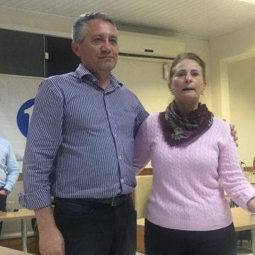 Eleições 2020: Dionísio Tonet, do PSL, terá como vice Lela Peron, do Progressistas