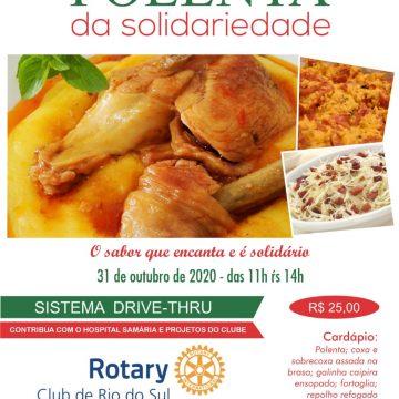 Polenta da solidariedade será realizada no dia 31 de outubro