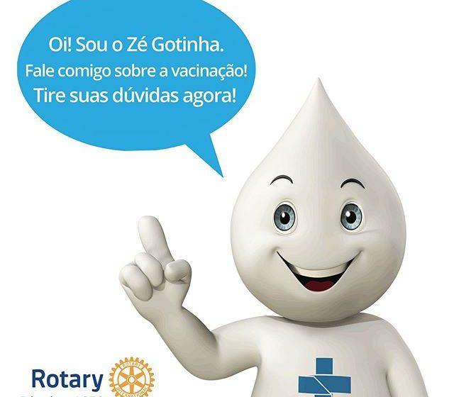Rotary Clube de Salete disponibiliza recurso digital na campanha nacional de multivacinação da poliomielite