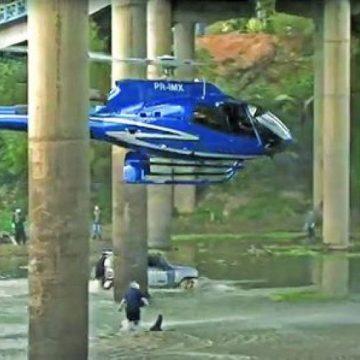 Proprietário de helicóptero e piloto que fez manobra arriscada em Rio do Sul são multados pela Anac