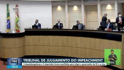 Composto por dez integrantes, tribunal que vai julgar impeachment em SC é formado