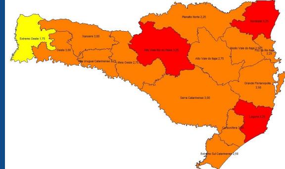 Alto Vale do Itajaí sai do risco gravíssimo para coronavírus e vai para nível grave na matriz de risco do estado