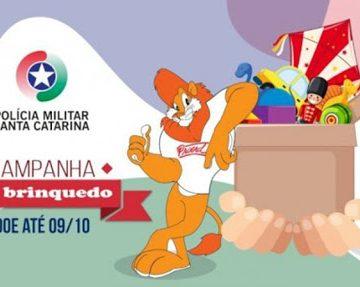 Polícia Militar realiza campanha para arrecadação de brinquedos