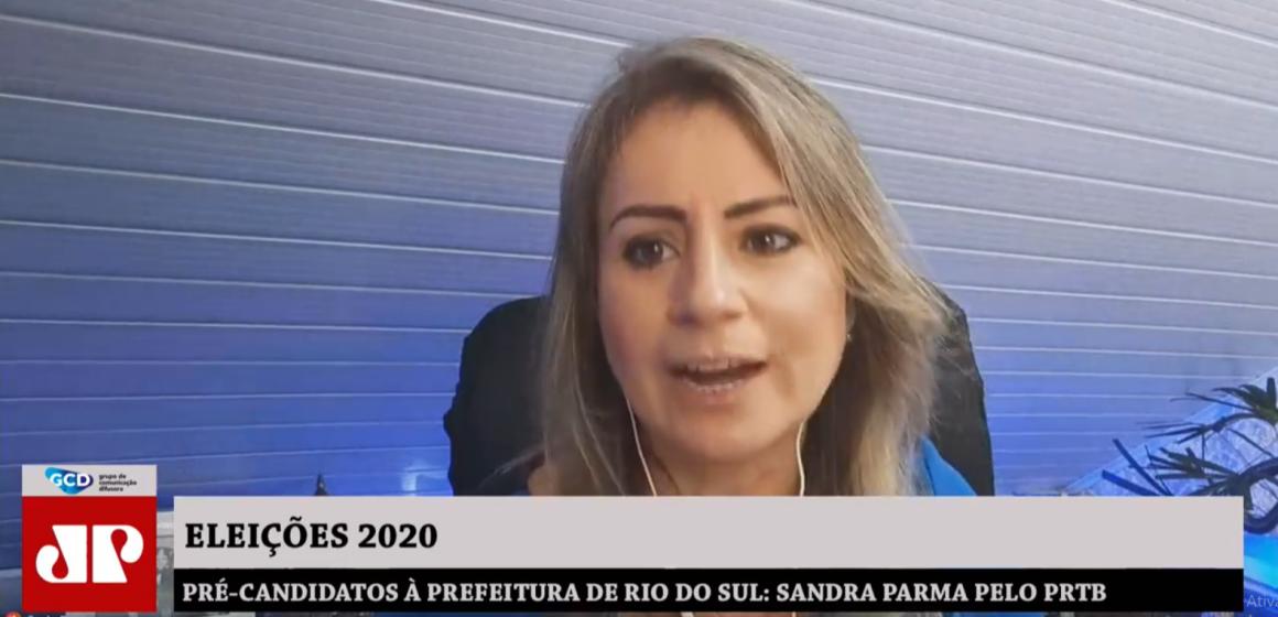 Pré-candidatos à prefeitura de Rio do Sul: Sandra Parma pelo  PRTB