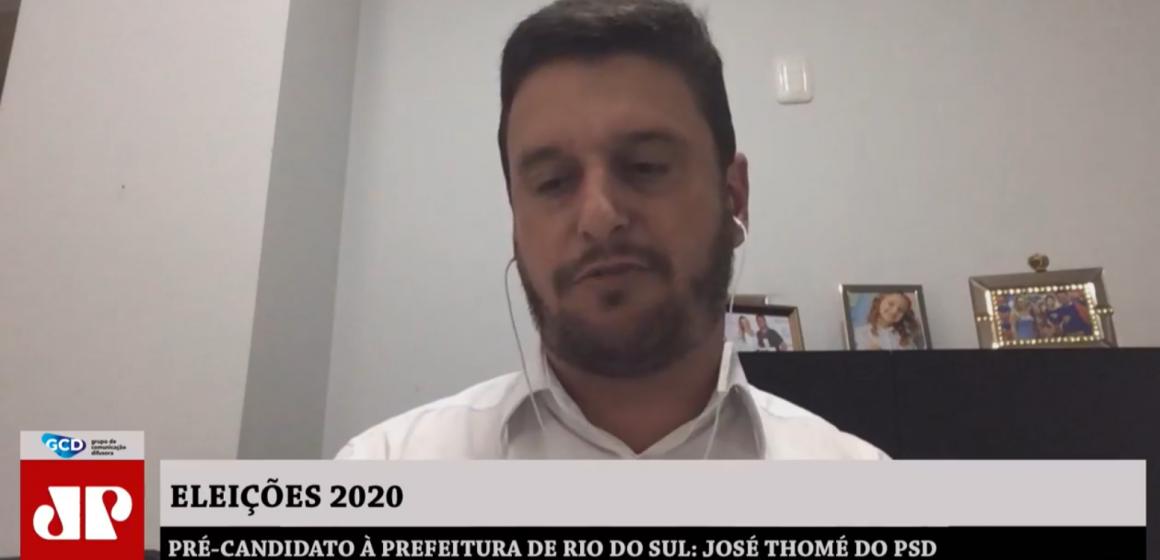 Pré-candidato pelo PSD, em série de entrevistas José Thomé afirma que vai tentar reeleição