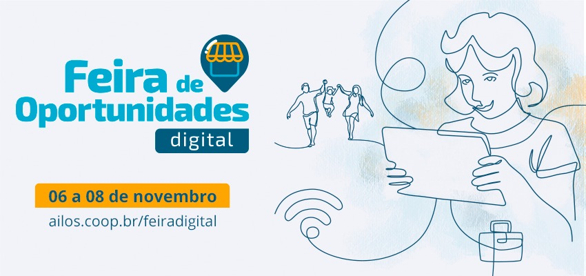 Feira de Oportunidades Digital vai acontecer entre os dias 6 e 8 de novembro
