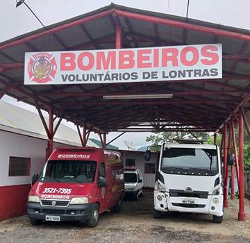 Bombeiros voluntários de Lontras completaram quatro anos de atividade