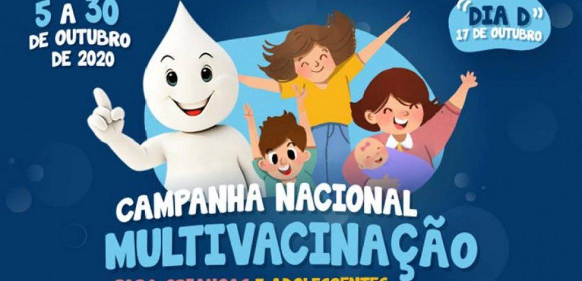 Campanha de multivacinação segue até 17 de outubro