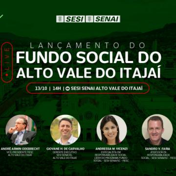 Fiesc no Alto Vale lança o Fundo Social