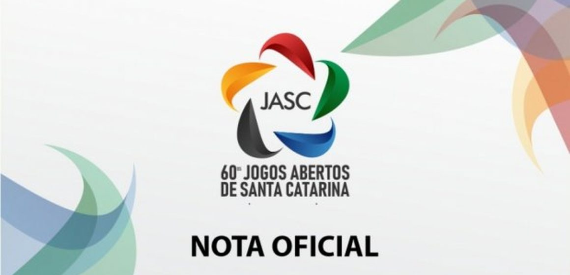 Edição 2020 dos JASC é cancelada